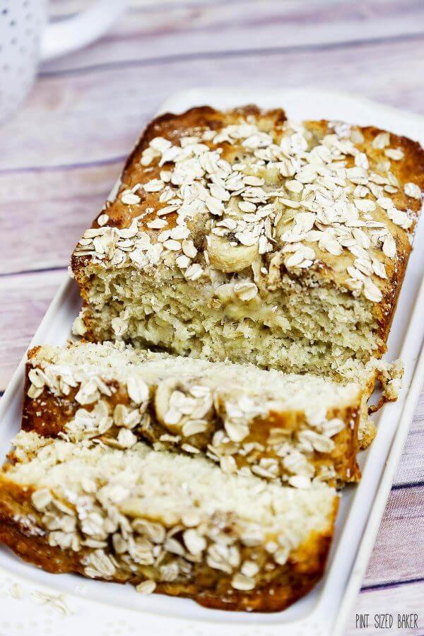 Low Sugar Banana Bread  Low Sugar Banana Oat Bread Recipe Pint Sized Baker