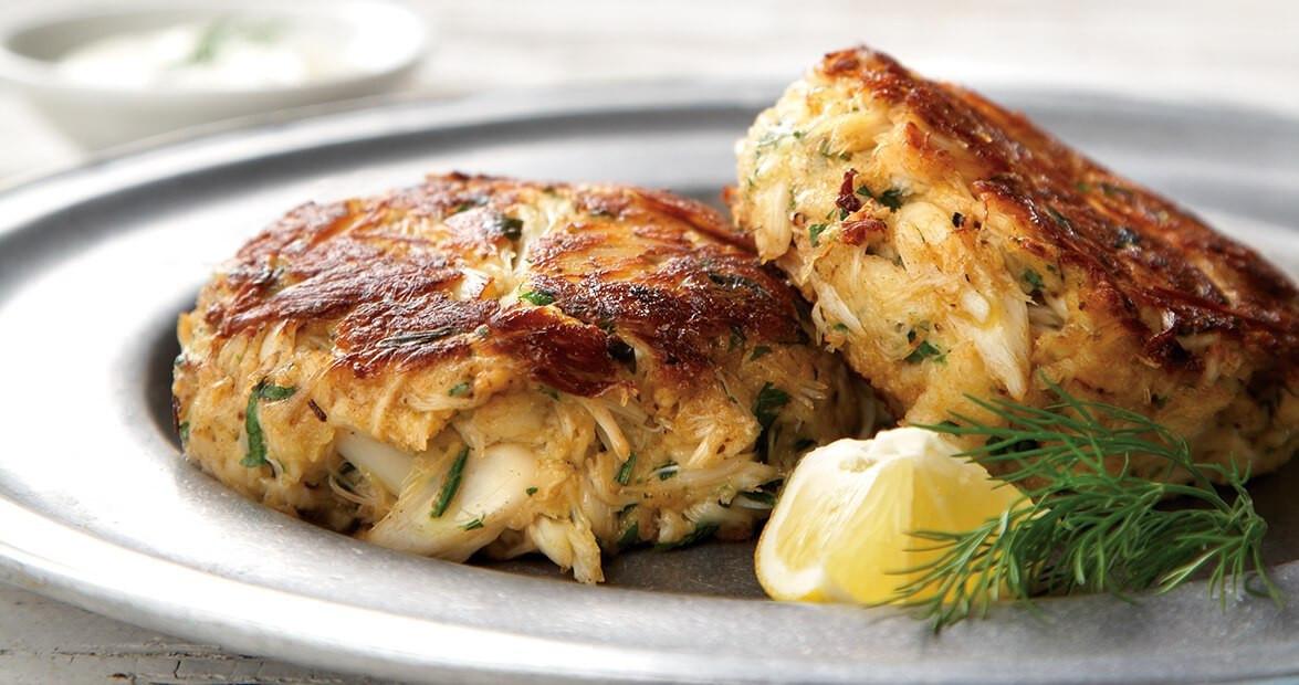 Lump Crab Cake Recipe  Lump Crab Cakes with Dijon Dill Sauce Recipe