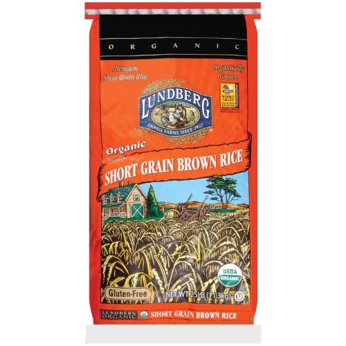 Lundberg Brown Rice  Lundberg Brown Short Grain Rice Organic 25 Pound