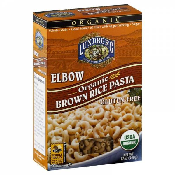 Lundberg Brown Rice  Lundberg Farms Organic Brown Rice Elbow Pasta 12 oz 6 Pack