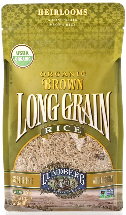 Lundberg Brown Rice  Lundberg Organic Long Grain Brown Rice – OrganicPowerFoods