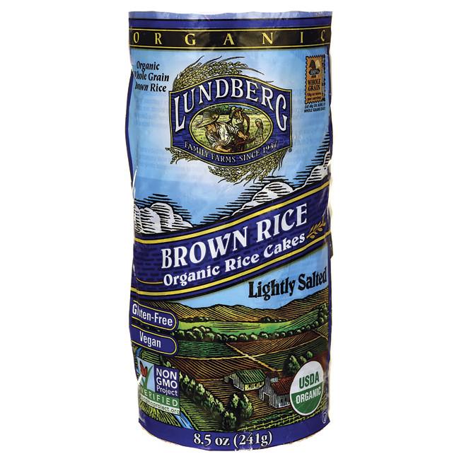 Lundberg Brown Rice  Lundberg Family Farms Organic Brown Rice Cakes Lightly