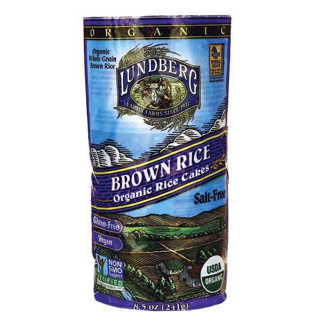 Lundberg Brown Rice  Lundberg Family Farms Organic Brown Rice Cakes Salt Free