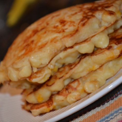 Mac And Cheese Pancakes  Mac n Cheese Pancakes My Honeys Place