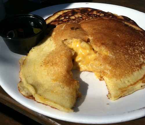 Mac And Cheese Pancakes  Crazy Savory Breakfast of the Day Part II