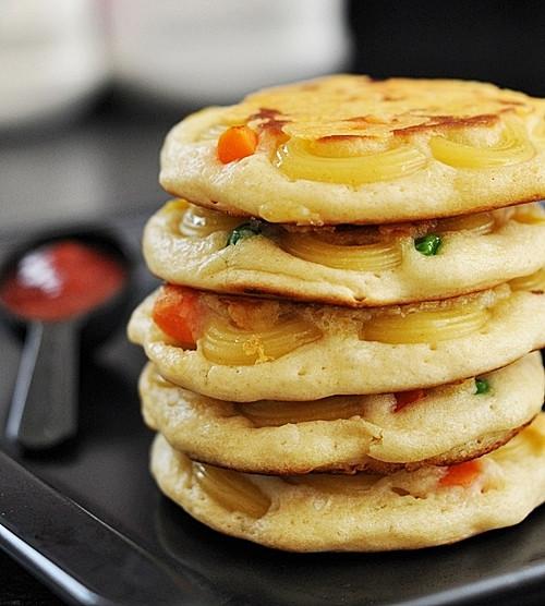 Mac And Cheese Pancakes  Mac n Cheese Pancakes 2 0 Fuss Free Cooking