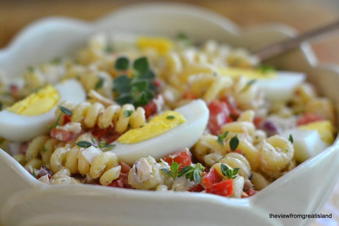Macaroni Salad With Tuna  Pasta Salad with Tuna
