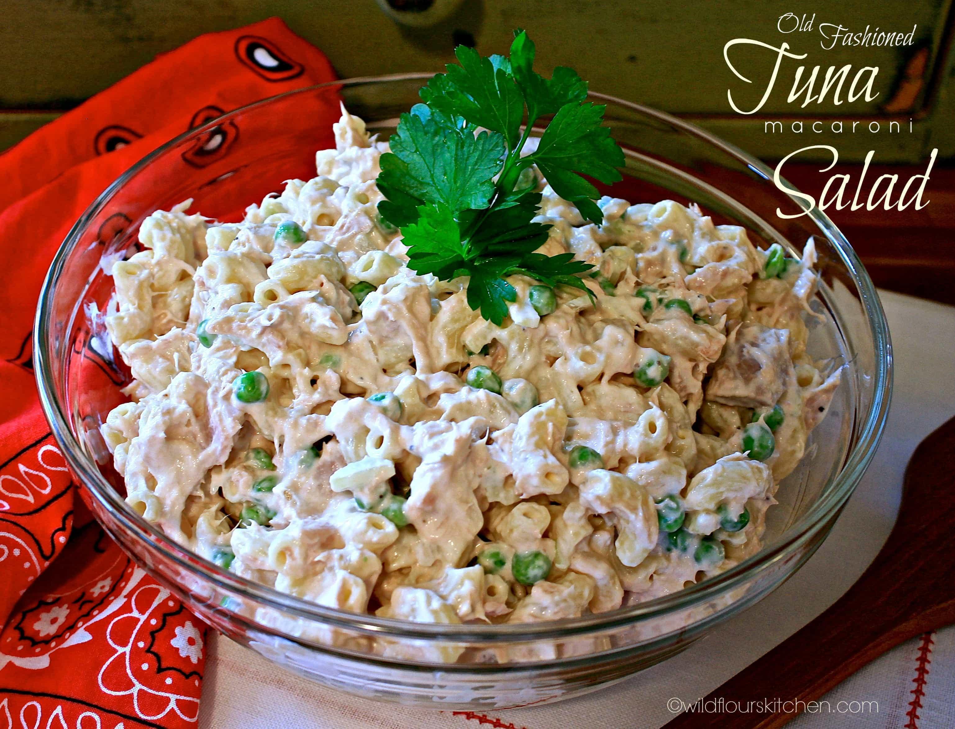 Macaroni Salad With Tuna  Old Fashioned Tuna Macaroni Salad Wildflour s Cottage