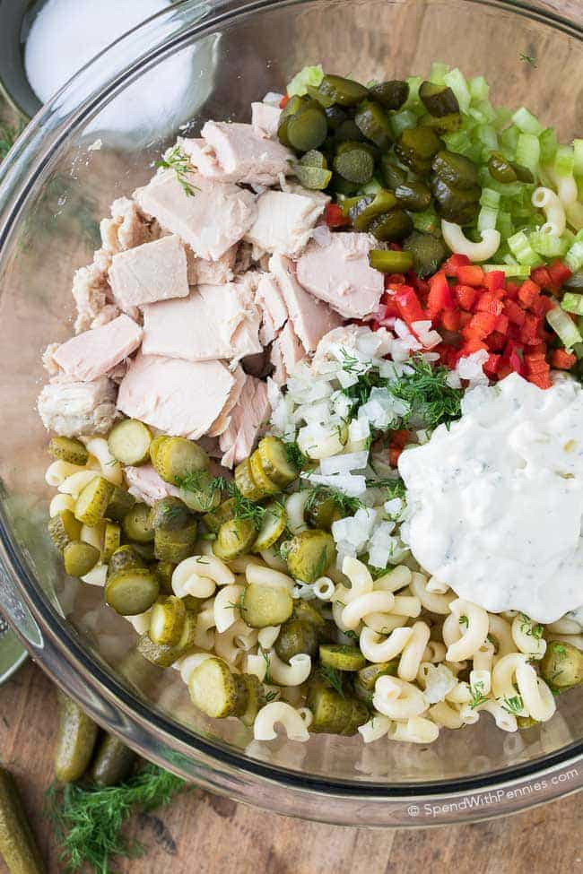 Macaroni Salad With Tuna  Pickled Tuna Macaroni Salad Spend With Pennies