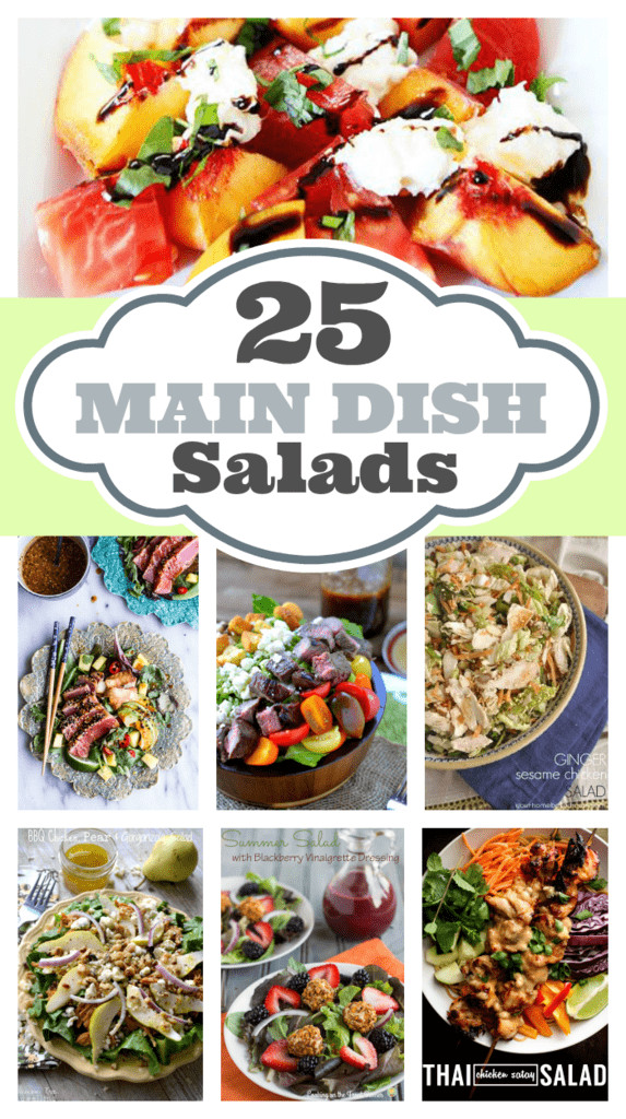 Main Dish Salads  25 Main Dish Salads your homebased mom