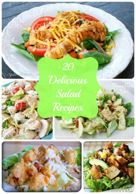 Main Dish Salads  20 yummy main dish salad recipes