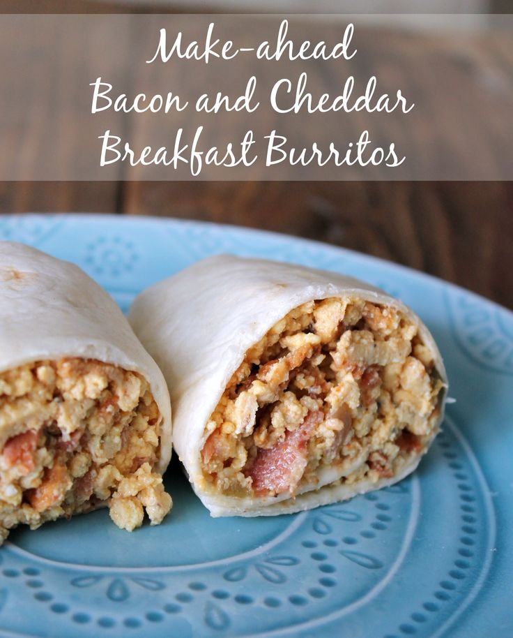 Make Ahead Breakfast Burrito Recipes  282 best images about Healthy Breakfast Recipes on Pinterest