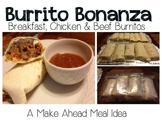 Make Ahead Breakfast Burrito Recipes  Make Ahead Meals – Burrito Bonanza Breakfast Chicken and