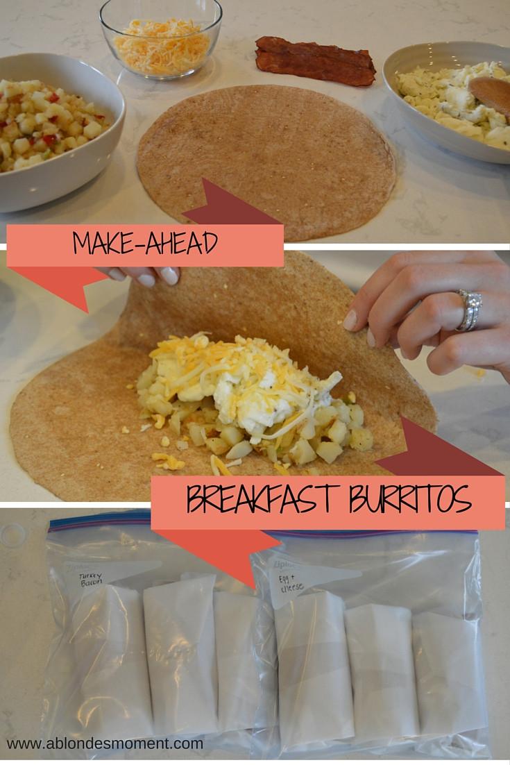 Make Ahead Breakfast Burritos  A Blonde s Moment make ahead breakfast burritos