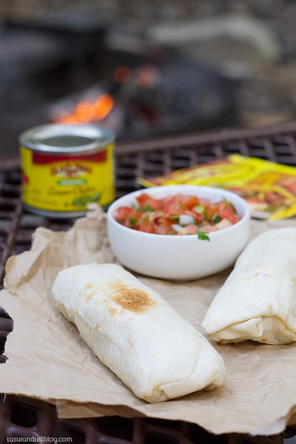 Make Ahead Breakfast Burritos  Breakfast Burritos Campfire Style Taste and Tell