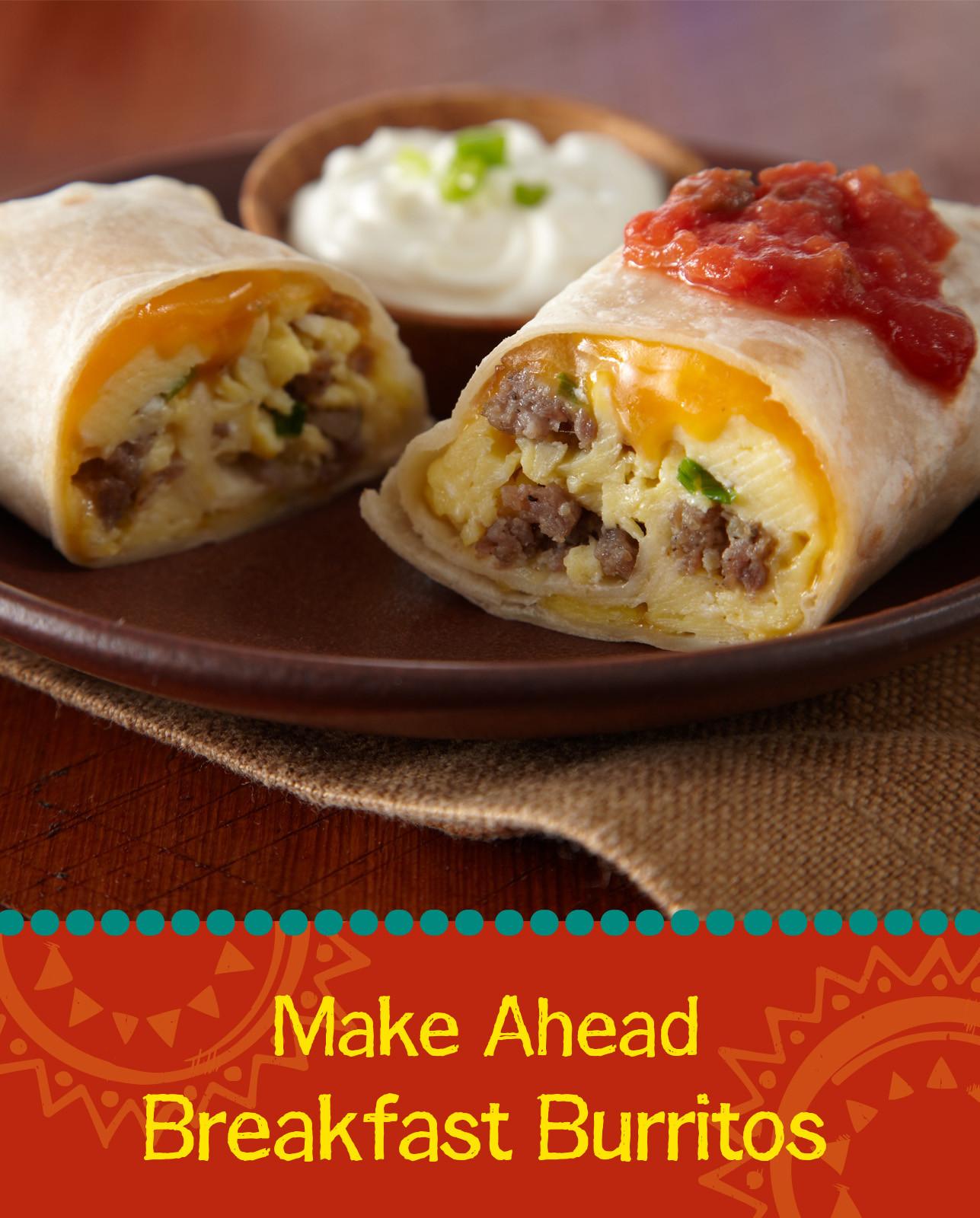 Make Ahead Breakfast Burritos  Make Ahead Breakfast Burritos