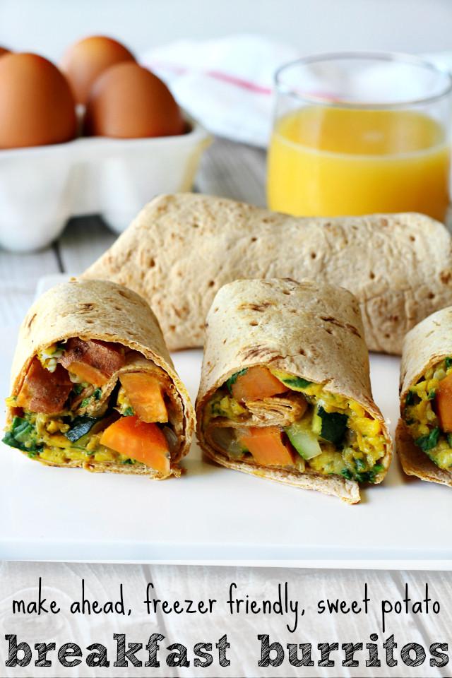 Make Ahead Breakfast Potatoes  Sweet Potato Breakfast Burritos Kim s Cravings