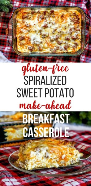 Make Ahead Breakfast Potatoes  Make Ahead Spiralized Sweet Potato Breakfast Casserole