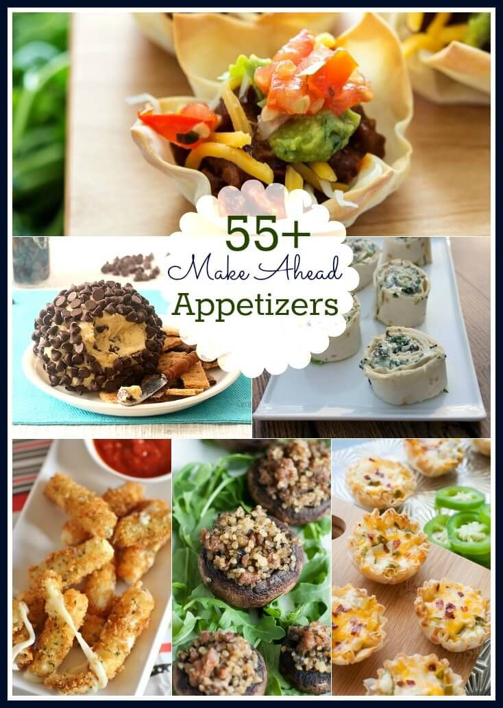 Make Ahead Christmas Appetizers  The 25 best Make ahead appetizers ideas on Pinterest