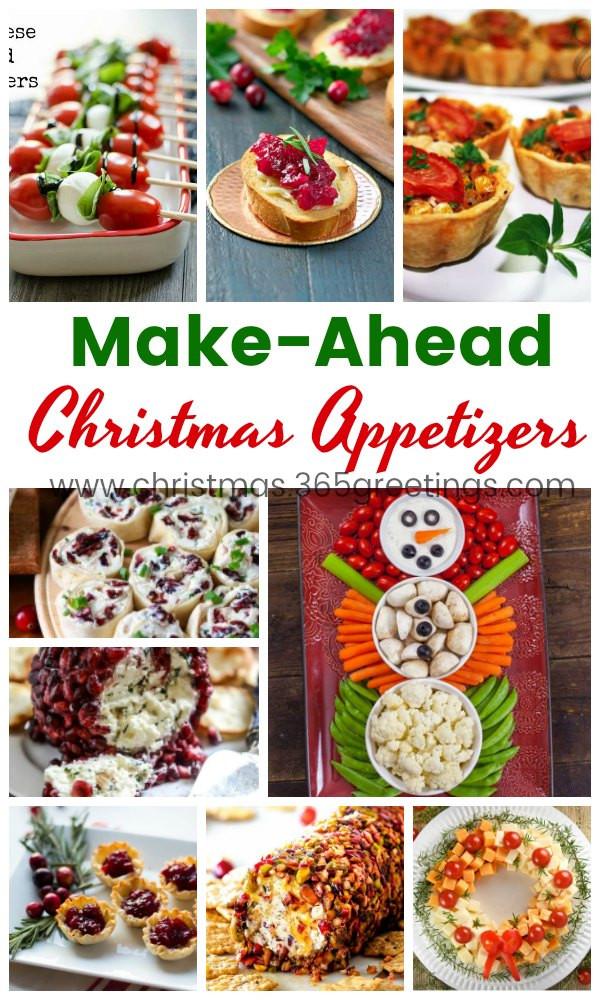 Make Ahead Christmas Appetizers  30 Easy Make Ahead Christmas Appetizers Recipes