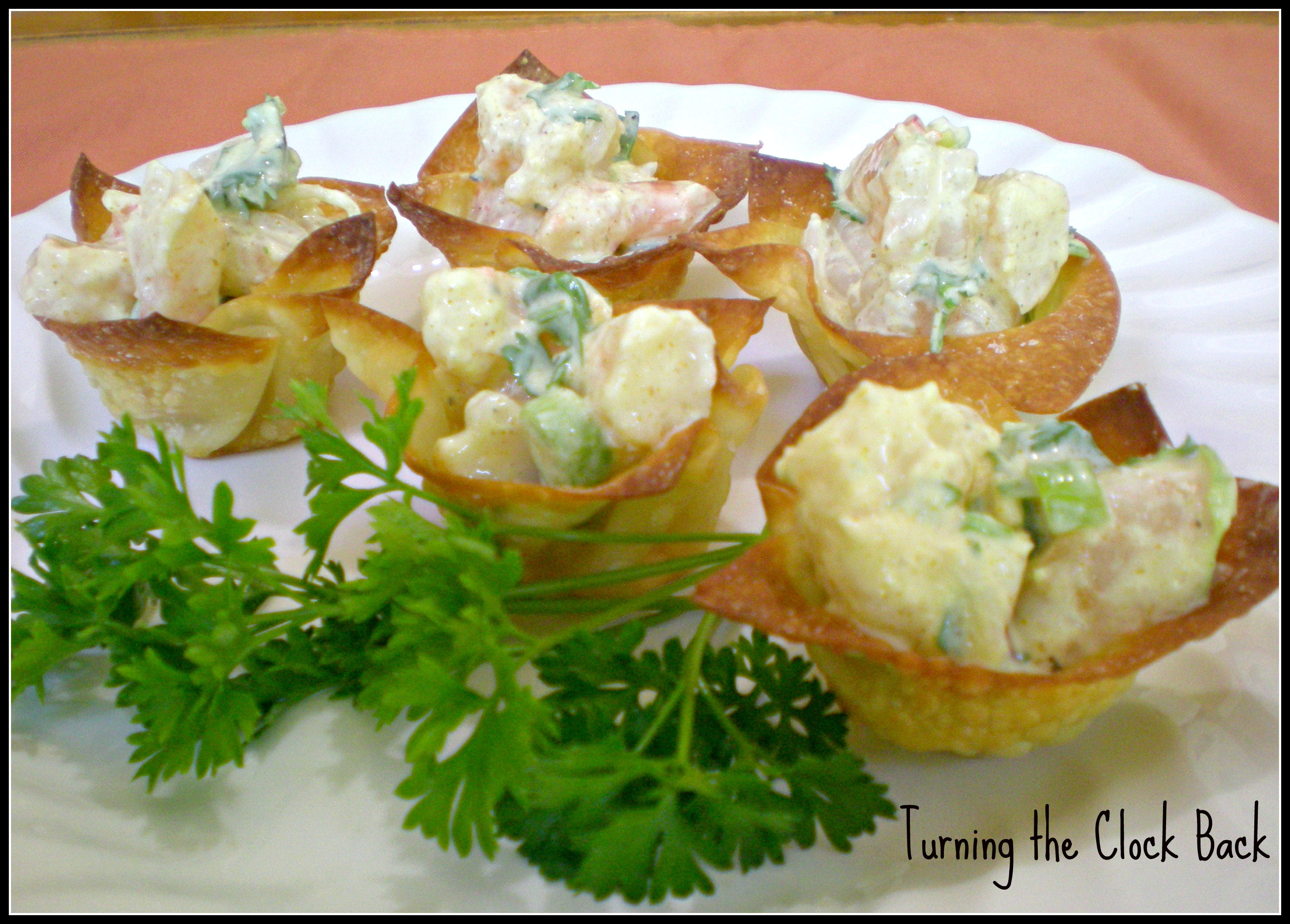 Make Ahead Shrimp Appetizers  Easy Appetizer Recipe Curried Shrimp Cups Turning the