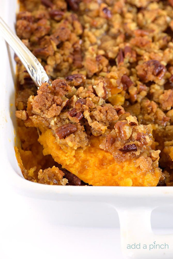 Make Ahead Sweet Potato Casserole  THANKSGIVING SIDE DISHES YOU CAN MAKE IN ADVANCE