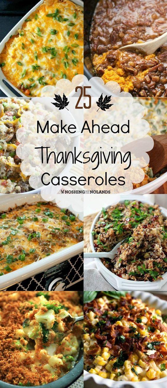 Make Ahead Thanksgiving  25 Make Ahead Thanksgiving Casseroles