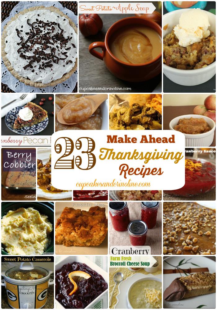 Make Ahead Thanksgiving  23 Make Ahead Thanksgiving Recipes ⋆ Cupcakes and Crinoline