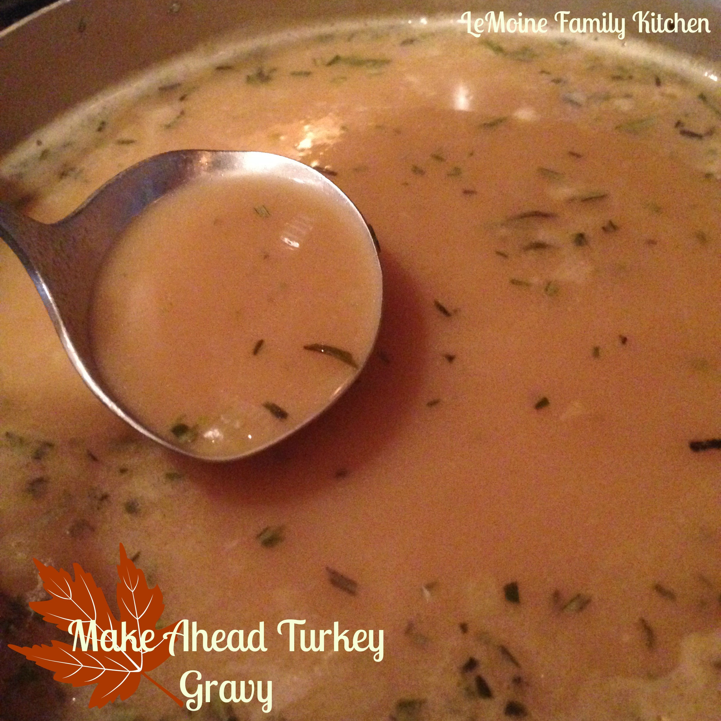 Make Ahead Turkey Gravy  Make Ahead Turkey Gravy Thanksgiving LeMoine Family