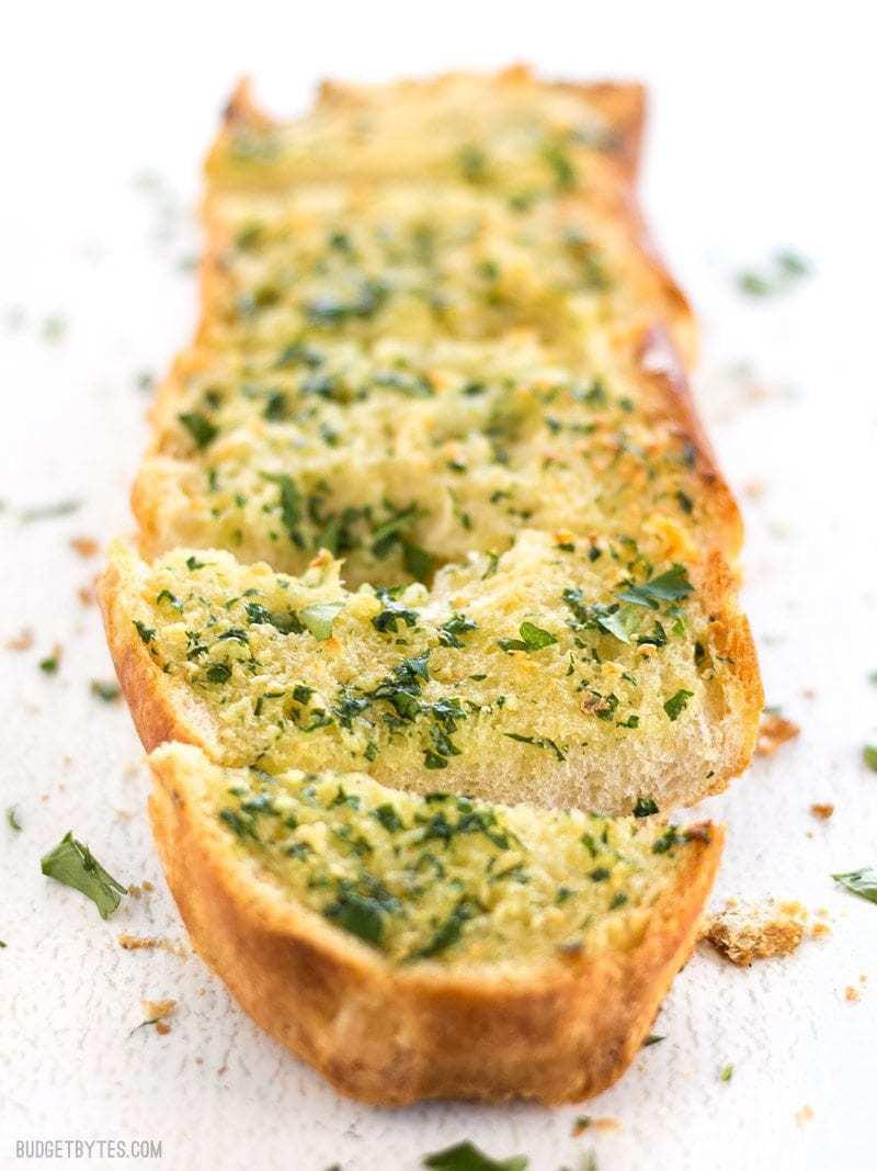 Make Garlic Bread  Homemade Garlic Bread Bud Bytes
