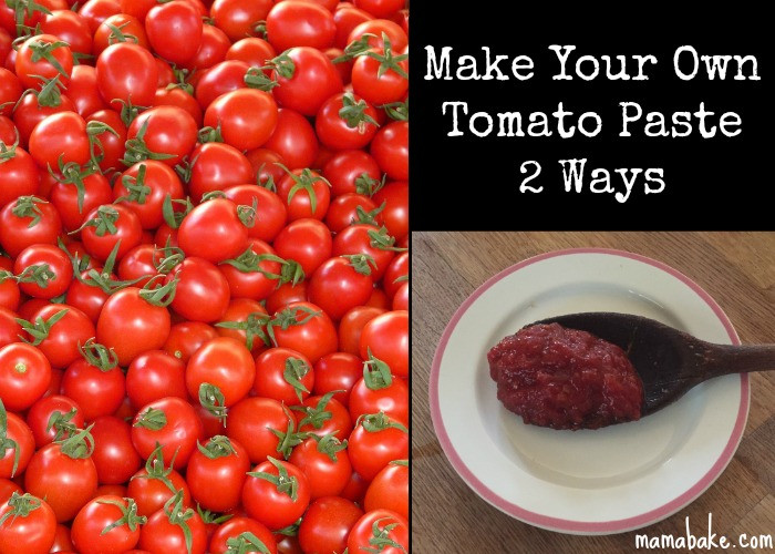 Make Tomato Sauce From Tomato Paste  Make your own Tomato Paste 2 Ways MamaBake
