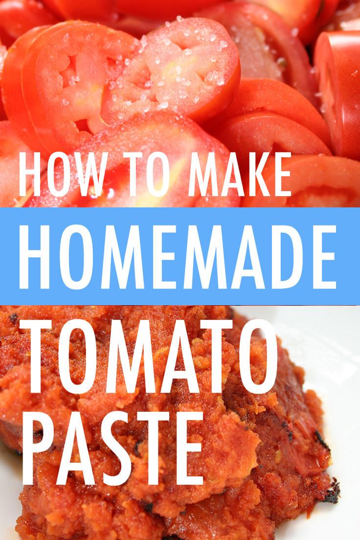 Make Tomato Sauce From Tomato Paste  How to Make Tomato Paste at Home