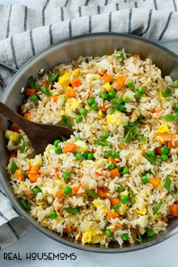 Making Fried Rice  Easy Fried Rice ⋆ Real Housemoms