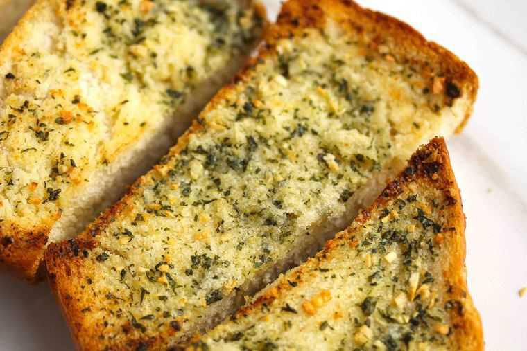 Making Garlic Bread  homemade garlic bread