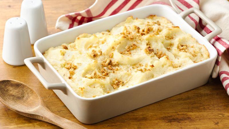 Making Mashed Potatoes  Do Ahead Mashed Potatoes Recipe BettyCrocker