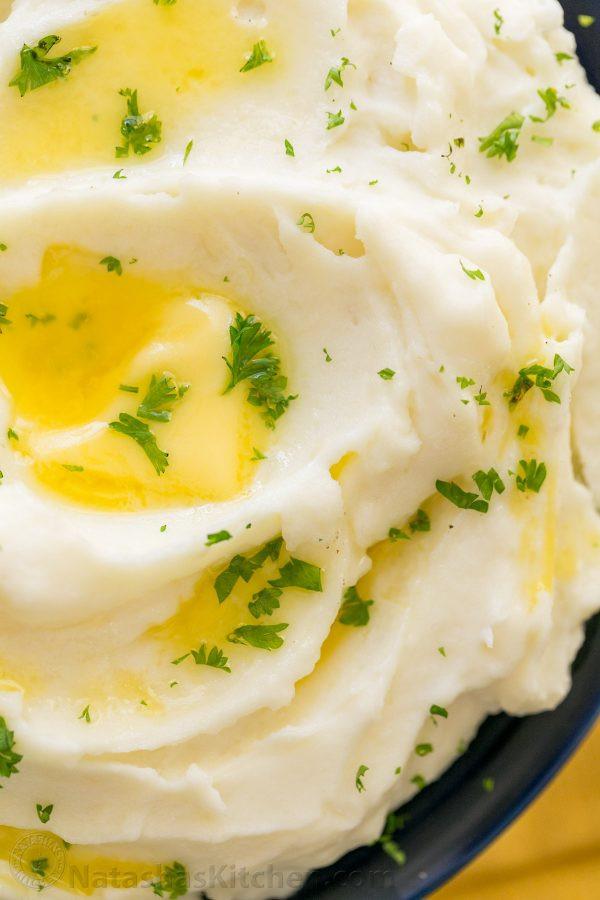 Making Mashed Potatoes  Creamy Mashed Potatoes Recipe NatashasKitchen