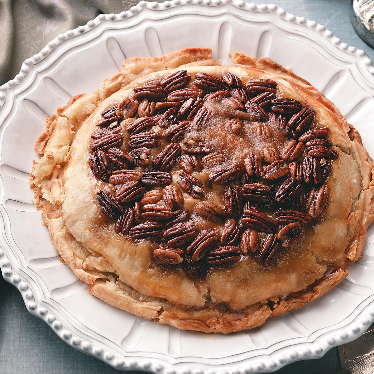 M&Ms Pecan Pie  Upside Down Apple Pecan Pie Recipe