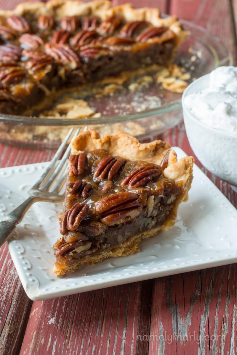 M&Ms Pecan Pie  Vegan Pecan Pie