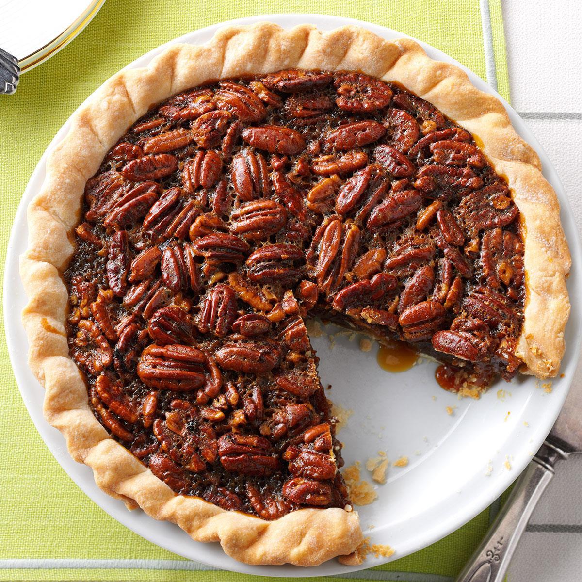 M&Ms Pecan Pie  Molasses Bourbon Pecan Pie Recipe