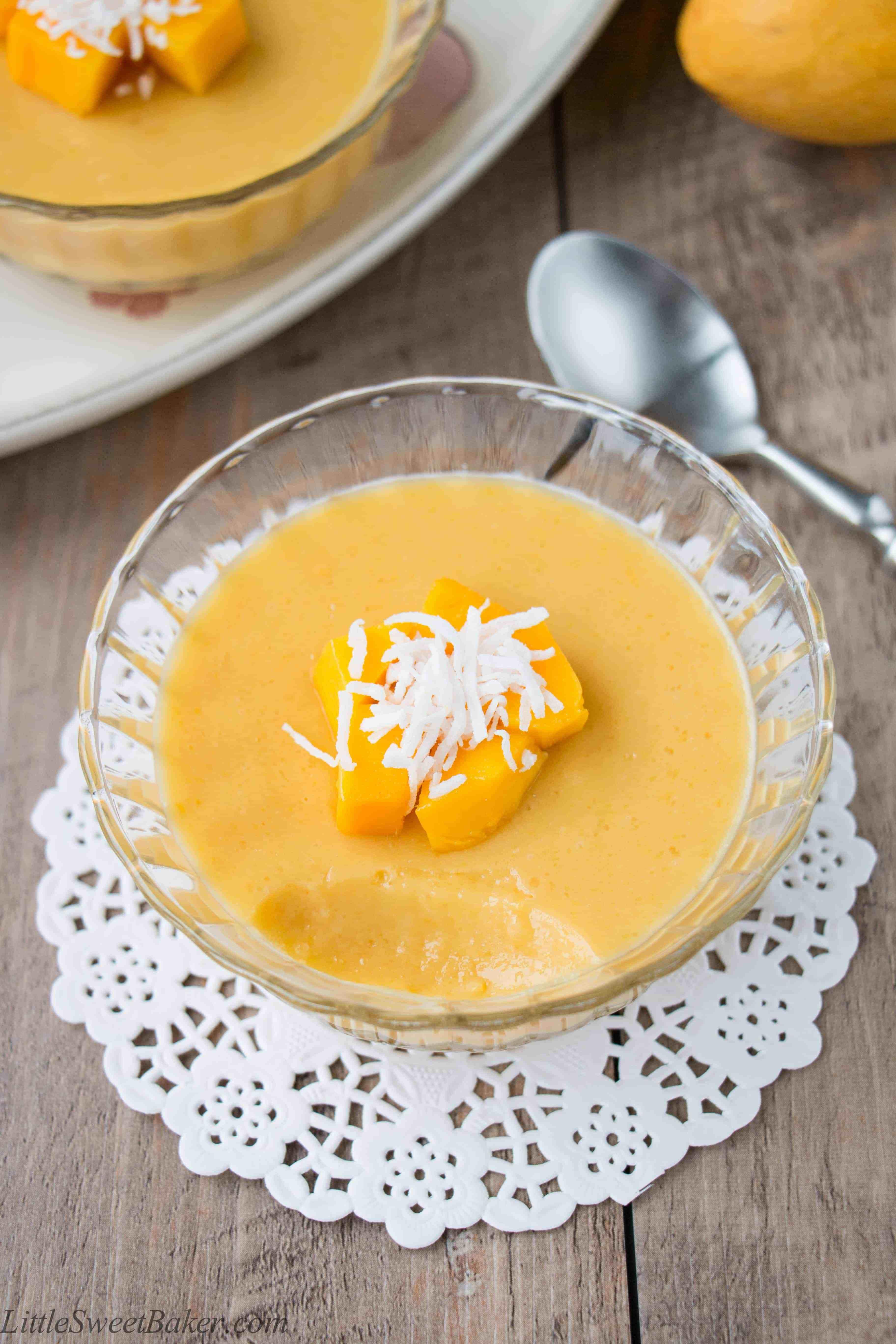 Mango Mango Dessert  Mango Pudding video recipe Little Sweet Baker
