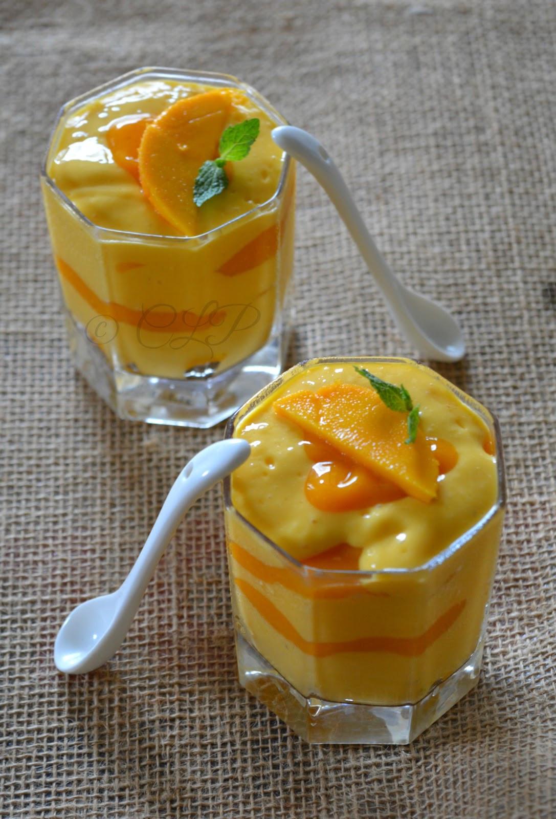 Mango Mango Dessert  Cook like Priya Low Fat Mango Fool