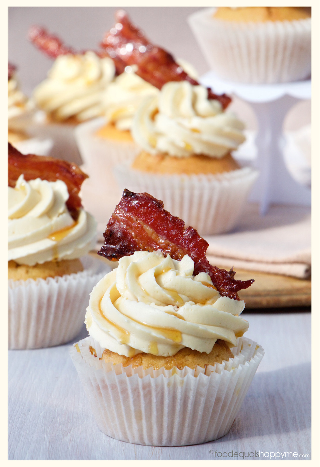 Maple Bacon Cupcakes  Maple Bacon Cupcakes with a touch of whisky