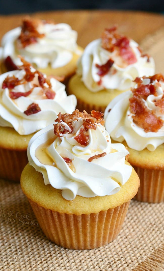 Maple Bacon Cupcakes  Maple Bacon Cupcakes Will Cook For Smiles