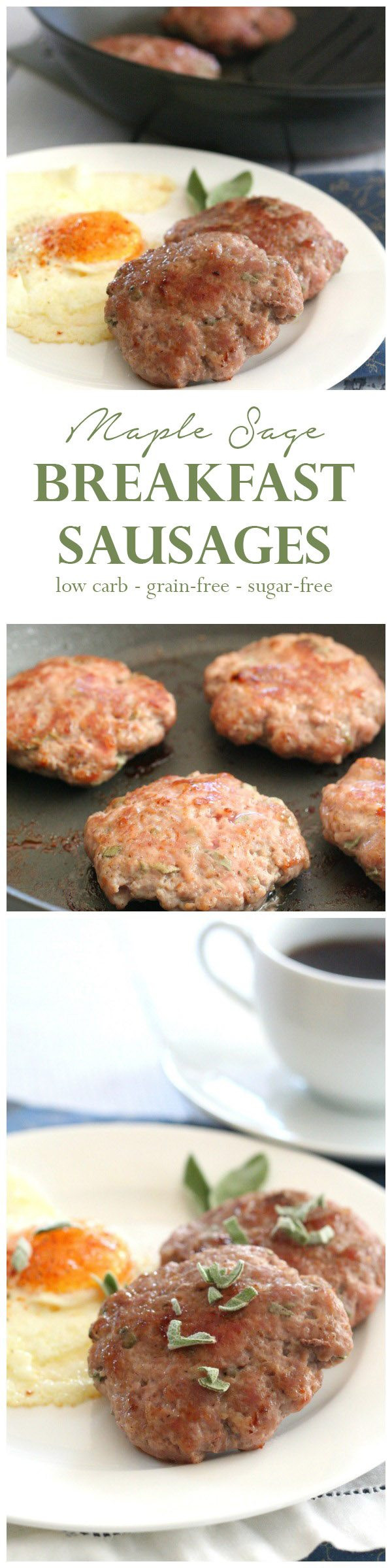 Maple Breakfast Sausage Recipe  Low Carb Maple Sage Breakfast Sausage Recipe