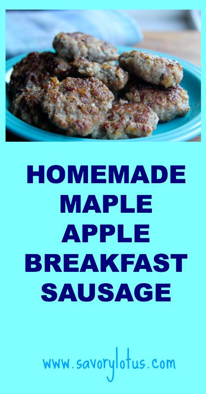 Maple Breakfast Sausage Recipe  Homemade Maple Apple Breakfast Sausage Savory Lotus