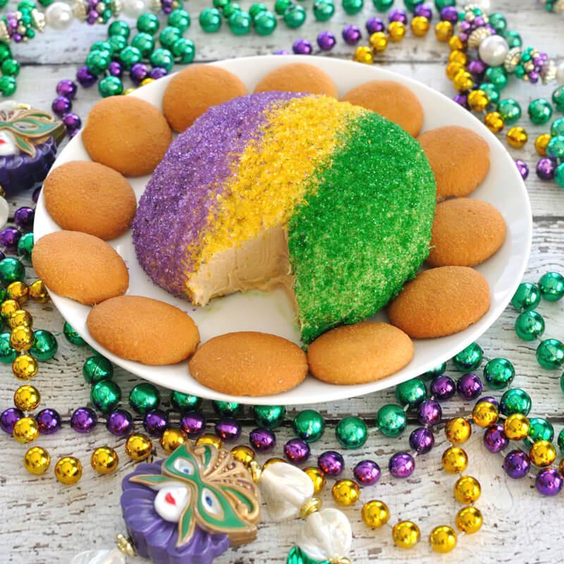 Mardi Gras Desserts  King Cake Cheese Ball for Mardi Gras Dip Recipe Creations