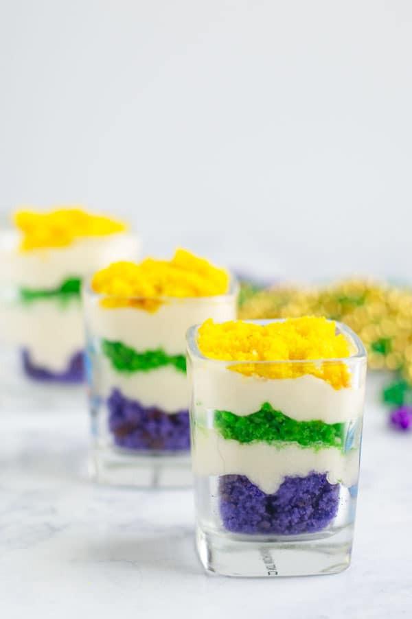 Mardi Gras Desserts  Mardi Gras Trifle