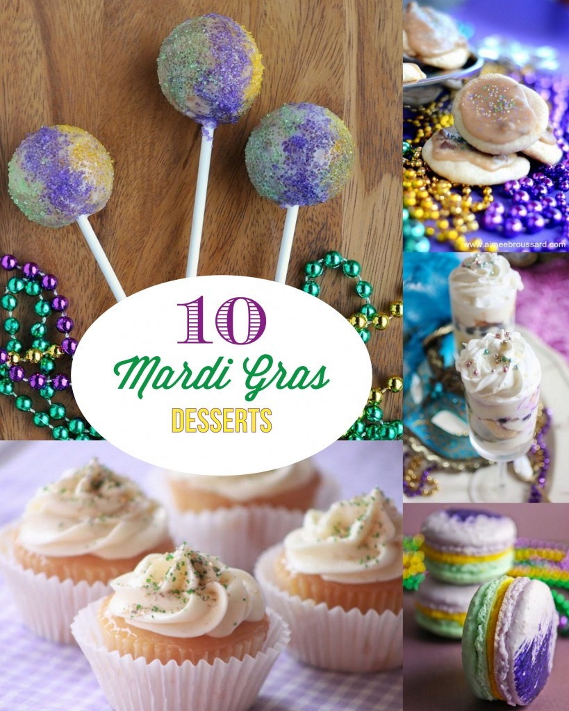 Mardi Gras Desserts  10 Mardi Gras Desserts Mirabelle Creations