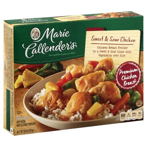 Marie Callender S Frozen Dinners  Marie Callender s Frozen Dinner Sweet & Sour Chicken 14 oz box