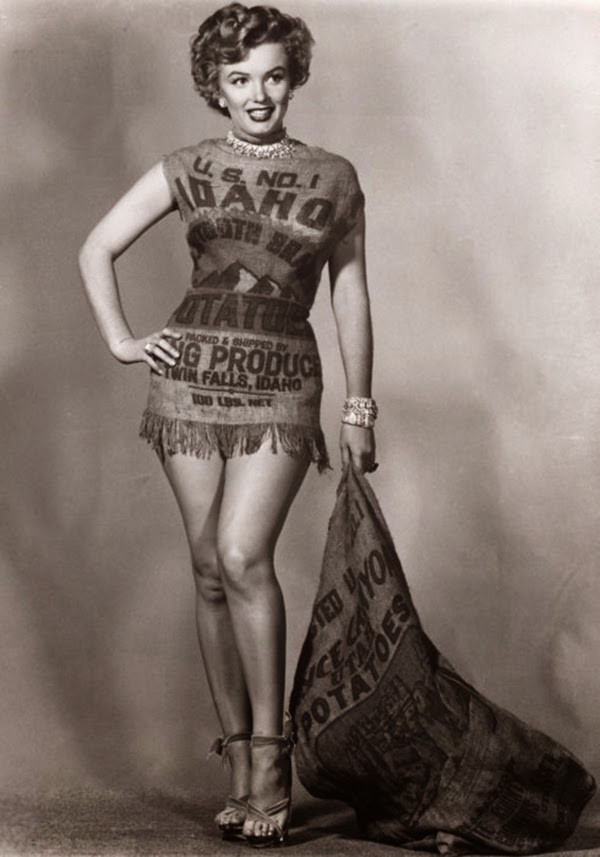 Marilyn Monroe Potato Sack  The Story of Marilyn Monroe and the Potato Sack Dress c